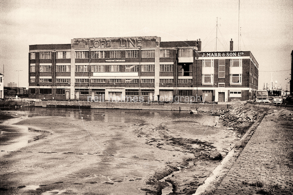 The decaying St Andrews dock Hull Circa late 1980's