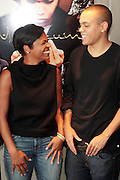 17 September 2010-New York, NY- l to r: Nia Long, and Evan Ross at the press conference to announce the release of ' Moozlum the Movie ' held at the Dolby Studios on September 17, 2010 in New York City. ..**exclusive**