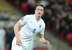 Phil Jones of England (Manchester United)  - Photo mandatory by-line: Joe Meredith/JMP - Mobile: 07966 386802 - 27/03/2015 - SPORT - Football - London - Wembley Stadium - England v Lithuania - UEFA EURO 2016 Qualifier