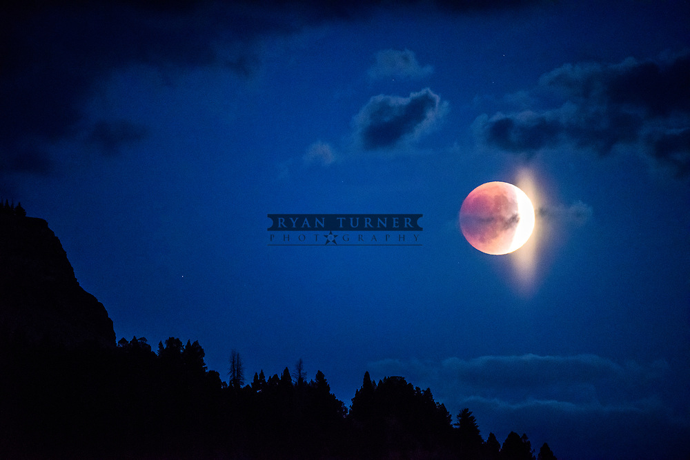 A lunar eclipse of the moon in Montana.  Limited Edition - 75