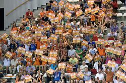 07-06-2014 NED: WLV Nederland - Portugal, Almere<br /> Een moeizame overwinning op Portugal levert Nederland twee punten op / Support publiek item Oranje