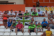 The FGR fans that have made the trip during the Pre-Season Friendly match between SC Farense and Forest Green Rovers at Estadio Municipal de Albufeira, Albufeira, Portugal on 25 July 2017. Photo by Shane Healey.
