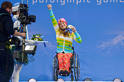 Women's Sit Ski Slalom Medal Ceremony at the 2014 Sochi Winter Paralympic Games, Russia