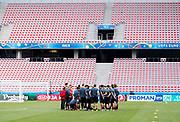 NICE, FRANCE, 2016-06-21<br /> FOTBOLL, EM, LANDSLAG<br /> Samling under Belgiens landslags tr&auml;ning p&aring; Stade de Nice i Nice, den 21 juni 2016.