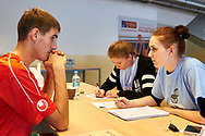 Katowice, Poland - 2017 September 02: Healthy Athletes Program during European Unified Volleyball Tournament 2017 at Spodek Hall on September 02, 2017 in Katowice, Poland.<br /> <br /> Adam Nurkiewicz declares that he has no rights to the image of people at the photographs of his authorship.<br /> <br /> Picture also available in RAW (NEF) or TIFF format on special request.<br /> <br /> Any editorial, commercial or promotional use requires written permission from the author of image.<br /> <br /> Image can be used in the press when the method of use and the signature does not hurt people on the picture.<br /> <br /> Mandatory credit:<br /> Photo by © Adam Nurkiewicz / Mediasport
