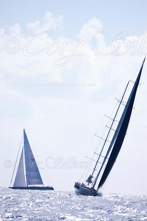 Sojana sailing in The Superyacht Cup regatta, Antigua 2010, race one.