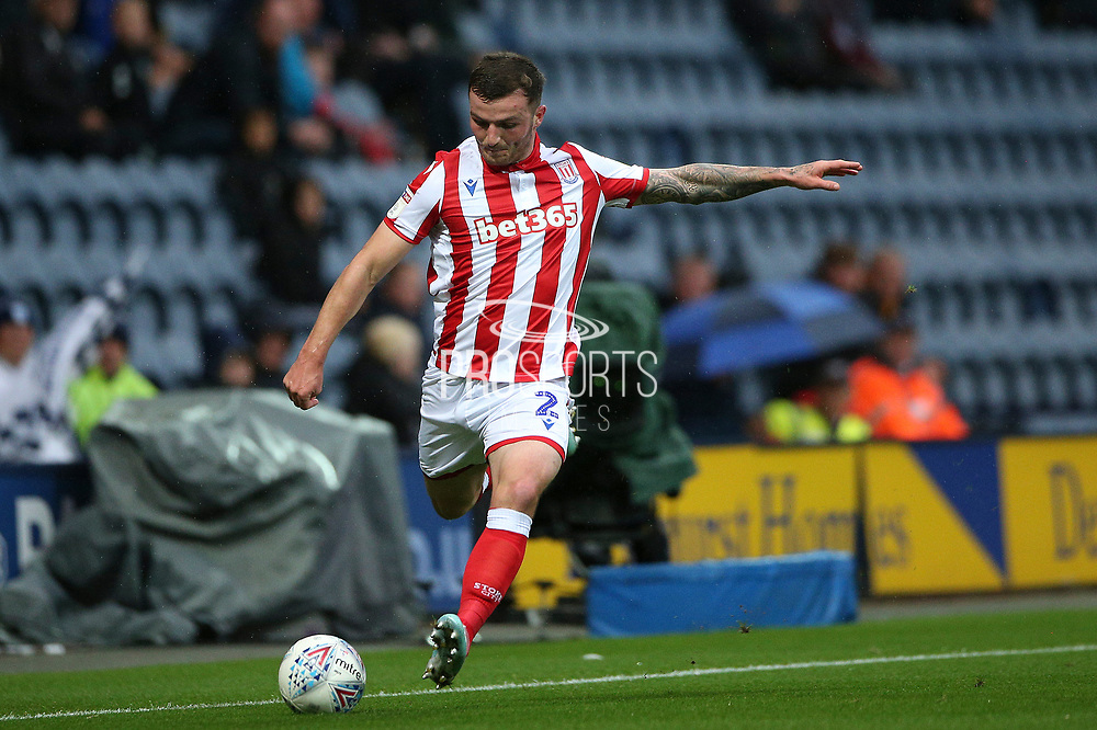 Stoke City defender Tom Edwards (2) during the EFL Sky Bet Championship match between Preston North End and Stoke City at Deepdale, Preston, England on 21 August 2019.
