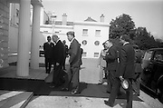 17/7/1964<br /> 7/17/1964<br /> 17 July 1964<br /> <br /> Ayub Khan President of Pakistan walking in with Irish President Éamon de Valera at Aras an Uachtarain