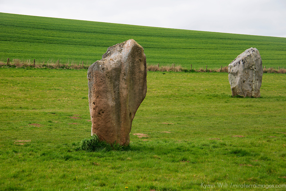 Europe, Great Britain, England, Avebury. Standing stones of West Kennet Avenue, a stone avenue in Wiltshire and part of the UNESCO World Heritage Site.