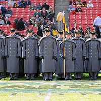 10 December 2011:   The Army Black Knights Corps of Cadets march on to the field prior to the game against the Navy Midshipmen at Fed Ex field in Landover, Md. in the 112th annual Army Navy game where Navy defeated Army, 27-21 for the 10th consecutive time.