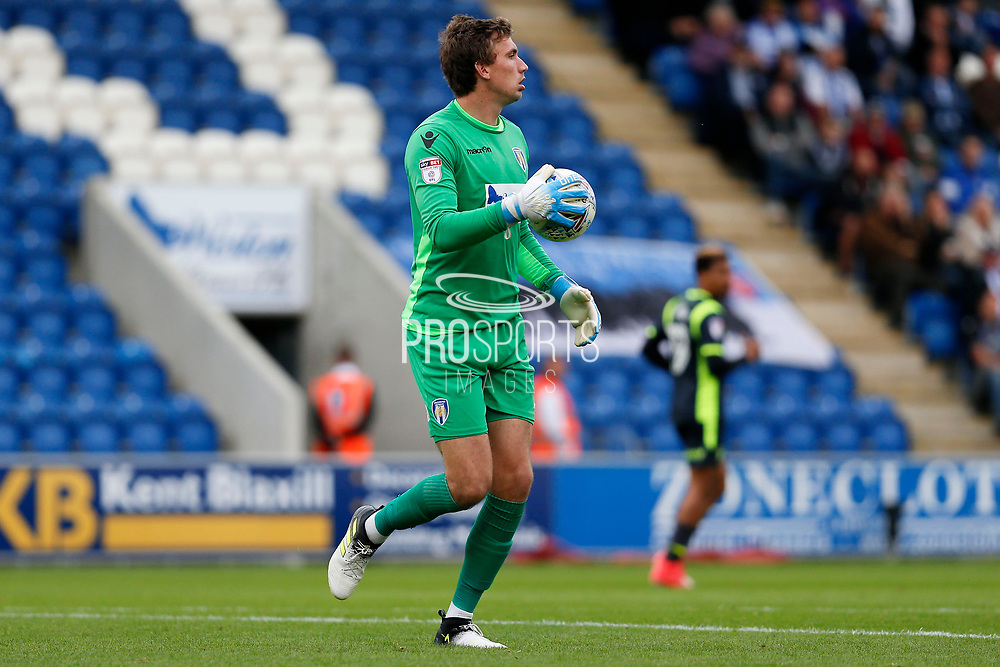 Colchester United's goalkeeper Sam Walker(1) during the EFL Sky Bet League 2 match between Colchester United and Carlisle United at the Weston Homes Community Stadium, Colchester, England on 14 October 2017. Photo by Phil Chaplin