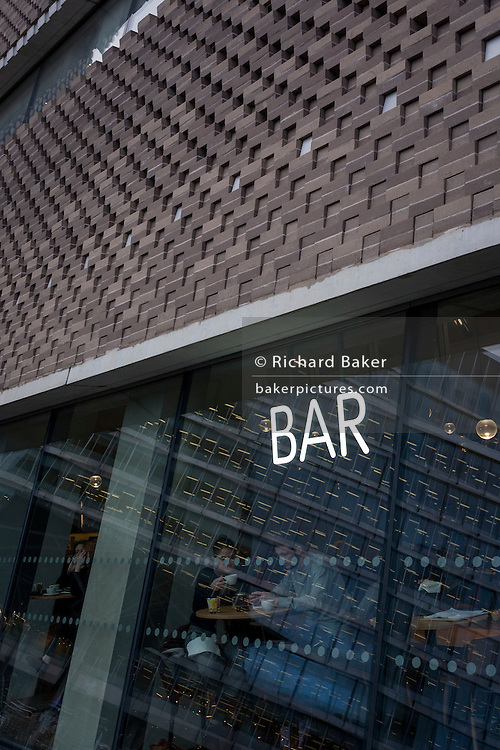 Exterior of the ground floor Bar at Tate Modern art gallery, on 13th January 2017 in London, England.