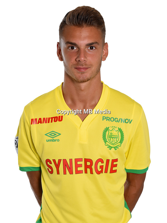 Alxander Kacaniklic during photocall of Fc Nantes for new season of Ligue 1 on September 14th 2016<br /> Photo : Fcna / Icon Sport