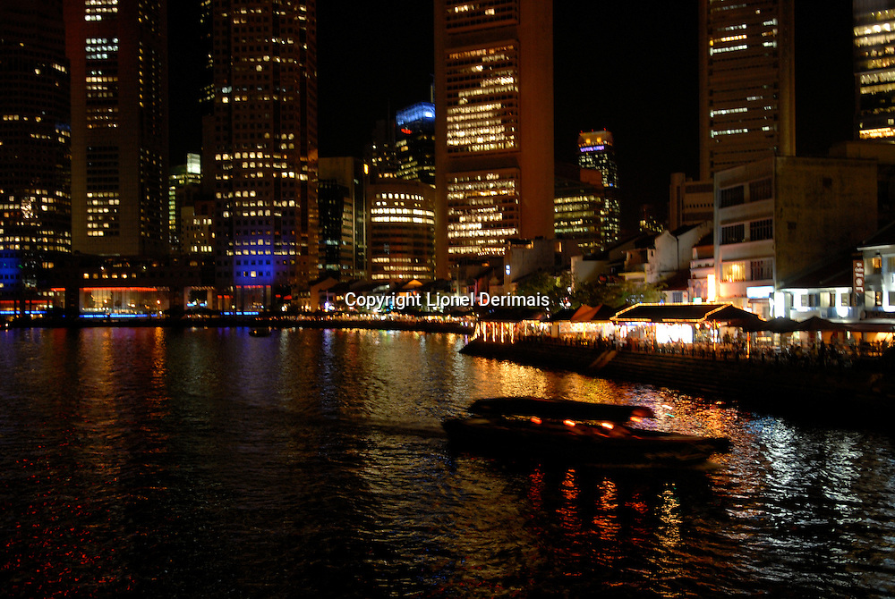Boat quay Singapour.