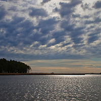 Altocumulus clouds and an approaching cold front over the Blackwater River, Blackwater National Wildlife Refuge, Cambridge, Maryland