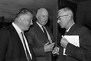 24/5/1965<br /> 5/24/1965<br /> 24 May 1965<br /> <br /> Press Conference for the Jumping Competition sponsord by Beamish and Crawford <br /> <br /> Mr. Peter McGlynn District Manager Beamish and Crawford; Phil McMahon Chairman; and Mr. Louis Byrne Hon Sec Blessington Show