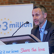 London, UK, 13th September 2017. Speaker Nicolas Hatton (Co Founder, the3million) Mass lobby statements of support from a cross-party group of MPs , Hosts by British in Europe and the3million and partners talk about the campaign and the importance of guaranteeing citizens' rights. at Emmanuel Centre.