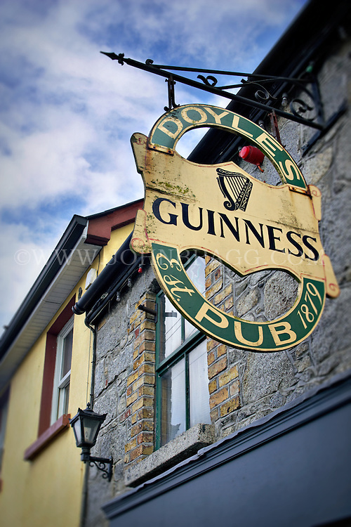 Doyle's Irish Pub sign in Castledermot, Ireland, County Kildare