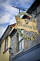 Doyle's Irish Pub sign in Castledermot, Ireland, County Kildare