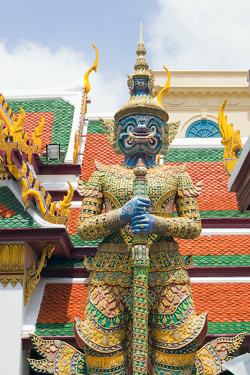 Guardian at Wat Phra Kaew Buddhist temple near Royal Grand Palace Bangkok Thailand&amp;#xA;<br />