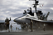F/A-18C Hornet, VFA-137, on catapult