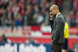 19.03.2016, Rhein Energie Stadion, Koeln, GER, 1. FBL, 1. FC Koeln vs FC Bayern Muenchen, 27. Runde, im Bild Trainer Pep Guardiola (FC Bayern Muenchen) // during the German Bundesliga 27th round match between 1. FC Cologne and FC Bayern Munich at the Rhein Energie Stadion in Koeln, Germany on 2016/03/19. EXPA Pictures © 2016, PhotoCredit: EXPA/ Eibner-Pressefoto/ Schüler<br /> <br /> *****ATTENTION - OUT of GER*****