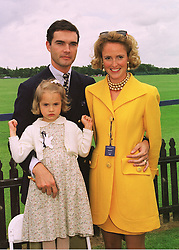THE PRINCE & PRINCESS OF WURTTEMBERG and their daughter PRINCESS SOPHIE OF WURTTEMBERG, at a polo match in Berkshire on 14th June 1998.<br /> MII 16