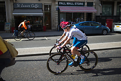 Cervélo-Bigla Cycling Team riders roll to the start before the Prudential RideLondon Classique - a 64.8 km road race, starting and finishing in central London on July 28, 2018, in London, United Kingdom. (Photo by Balint Hamvas/Velofocus.com)