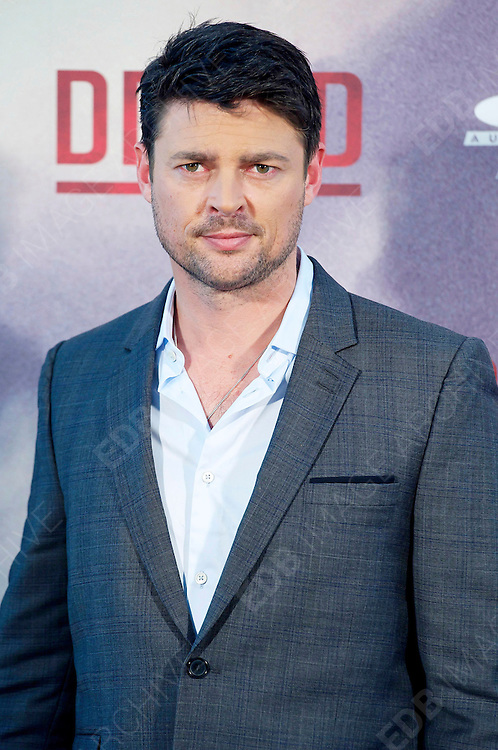 03.SEPTEMBER.2012. MADRID<br /> <br /> KARL URBAN ATTENDS THE 'DREDD' PHOTOCALL AT ME HOTEL IN MADRID.<br /> <br /> BYLINE: EDBIMAGEARCHIVE.CO.UK<br /> <br /> *THIS IMAGE IS STRICTLY FOR UK NEWSPAPERS AND MAGAZINES ONLY*<br /> *FOR WORLD WIDE SALES AND WEB USE PLEASE CONTACT EDBIMAGEARCHIVE - 0208 954 5968*