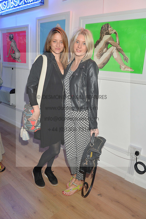 CLEM LANGTON and VICTORIA PRESTON at a private view of an exhibition entitled 'All Shook Up' - by Natasha Archdale: A Retrospective held at 90 Piccadilly, London on 23rd April 2015.