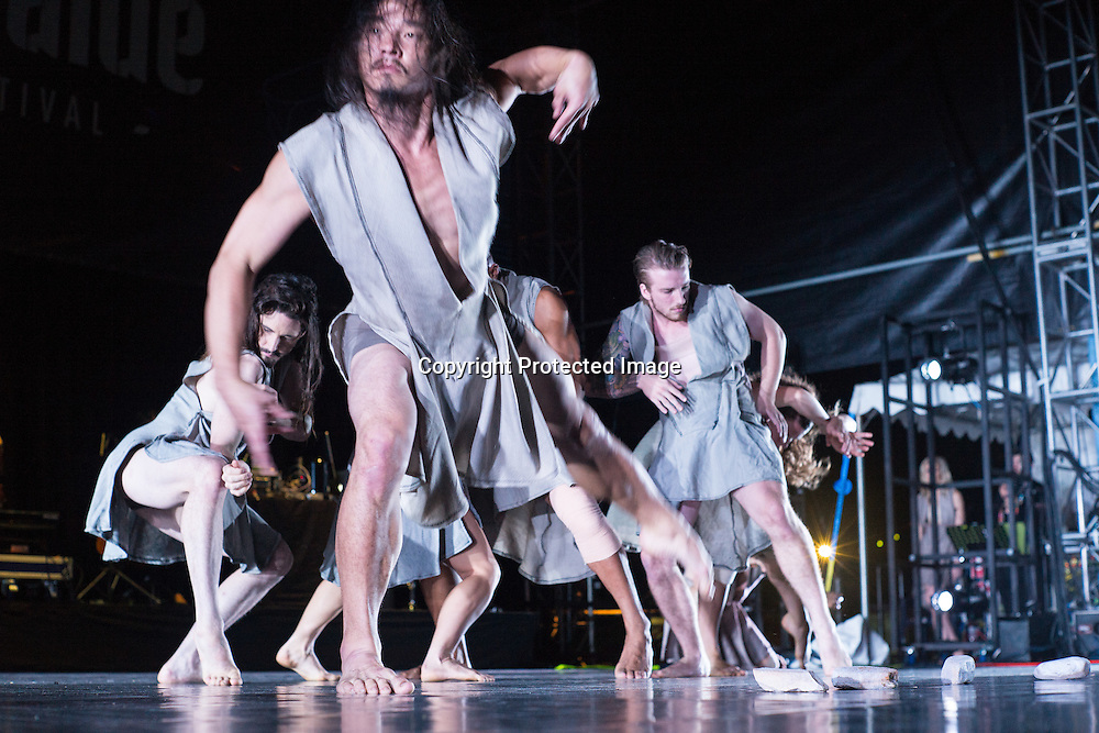 Australian Dance Company permorming the premier of The Beginning of Nature at Womadelaide 2016 Music Festival held between 11 - 14 March 2016 in Adelaide, South Australia