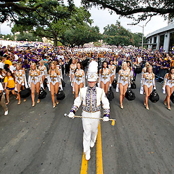 November 13, 2010; Baton Rouge, LA, USA; The LSU Tiger Band performs outside prior to kickoff of a game between the LSU Tigers and the Louisiana Monroe Warhawks at Tiger Stadium. LSU defeated Louisiana-Monroe 51-0.  Mandatory Credit: Derick E. Hingle