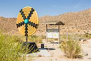 Enduring Tradition Steel Basket Sculpture at Palm Desert Visitor Center