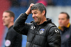 Oldham Athletic manager Stephen Robinson shows a look of dejection - Mandatory by-line: Matt McNulty/JMP - 03/09/2016 - FOOTBALL - Sportsdirect.com Park - Oldham, England - Oldham Athletic v Shrewsbury Town - Sky Bet League One