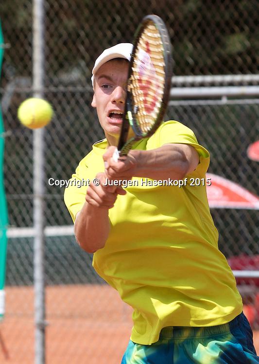 Robert Strombachs (GER)-Tennis Europe,M&uuml;nchen Junior Open BS16<br /> <br /> Tennis - Audi GW plus Zentrum M&uuml;nchen Junior Open 2015 - ITF Junior Tour -  SC Eching - Eching - Bayern - Germany  - 15 August 2015. <br /> &copy; Juergen Hasenkopf