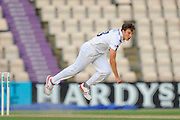 Brad Wheal of Hampshire bowling during the Specsavers County Champ Div 1 match between Hampshire County Cricket Club and Yorkshire County Cricket Club at the Ageas Bowl, Southampton, United Kingdom on 1 September 2016. Photo by Graham Hunt.