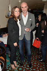 LUCY YEOMANS and JASON BROOKS at a dinner in honour of Christy Turlington hosted by Porter magazine at Mr Chow, Knightsbridge, London on 18th November 2014.