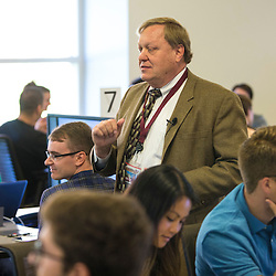 CMED 2016 new class first day in the applied learning classroom in the CMED building. The students work as a team answering questions and learning. Central Michigan University photos by Steve Jessmore