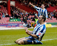 Photo: Leigh Quinnell.<br /> Bristol City v Huddersfield Town. Coca Cola League 1. 10/02/2007. Huddersfields Gary Taylor-Fletcher celebrates his goal.
