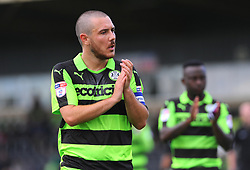 Liam Noble of Forest Green Rovers thanks fans after the final whistle - Mandatory by-line: Nizaam Jones/JMP - 05/08/2017 - FOOTBALL - New Lawn Stadium - Nailsworth, England - Forest Green Rovers v Barnet - Sky Bet League Two