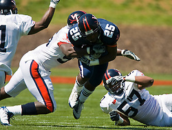Virginia running back Torrey Mack (25) in action during the spring game.  The Virginia Cavaliers football team played the annual spring football scrimmage at Scott Stadium on the Grounds of the University of Virginia in Charlottesville, VA on April 18, 2009.  (Special to the Daily Progress / Jason O. Watson)
