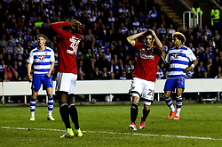 Lucas Piazon of Fulham and Ryan Sessegnon of Fulham look dejected - Mandatory by-line: Robbie Stephenson/JMP - 16/05/2017 - FOOTBALL - Madejski Stadium - Reading, England - Reading v Fulham - Sky Bet Championship Play-off Semi-Final 2nd Leg