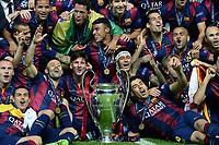 Barcellona Celebration Esultanza  <br /> Berlino 06-06-2015 OlympiaStadion  <br /> Juventus Barcelona - Juventus Barcellona <br /> Finale Final Champions League 2014/2015 <br /> Foto Matteo Gribaudi/Image Sport/Insidefoto