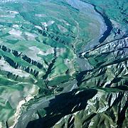 3 June 1976<br /> Ranges flowing into the river. Settlement.