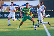 Tampa Bay Rowdies forward Sebastian Guenzatti(13) intercepts the pass during a USL soccer game, Sunday, May 26, 2019, in St. Petersburg, Fla. The Rowdies defeated the Rangers 1-0. (Brian Villanueva/Image of Sport)