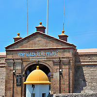 Front Gate of Real Felipe Fortress in Callao, Peru<br />