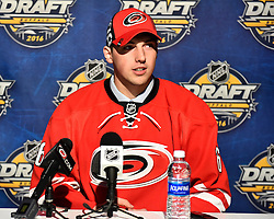 Jeremy Helvig at the 2016 NHL Draft in Buffalo, NY on Saturday June 25, 2016. Photo by Aaron Bell/CHL Images