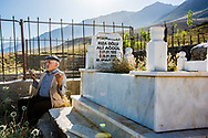 Munzur Valley, Turkey    - July, 17, 2014 - Zeynal Batar, the dede (Alevi religious leader) of Kedek village prays in the graveyard on a Thursday afternoon - the holiest day of the week for Alevis. CREDIT: Michael Benanav for The New York Times