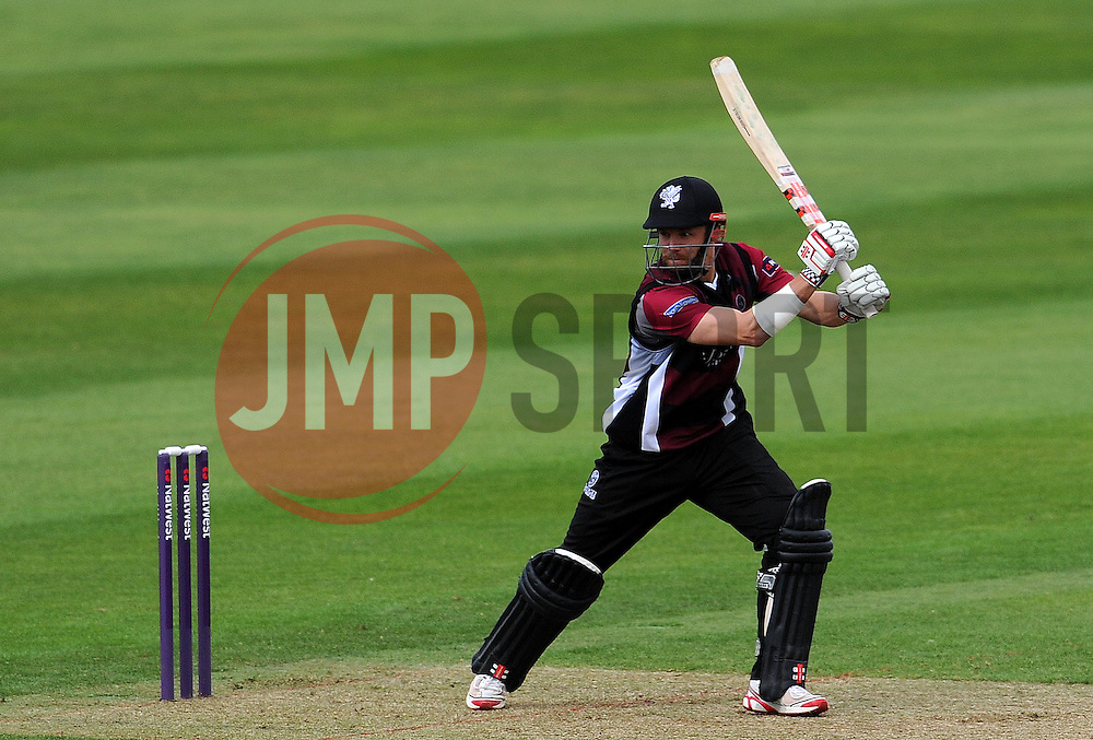 Somerset's James Hildreth drives the ball Photo mandatory by-line: Harry Trump/JMP - Mobile: 07966 386802 - 31/05/15 - SPORT - CRICKET - Natwest T20 Blast - Somerset v Kent- The County Ground, Taunton, England.