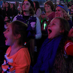 Advocate staff photo by DERICK HINGLE --Olivia Bertinot 7, of New Roads, La and Huddy Lees 8, of Woodville, MS react as Justin Beiber performs in concert during his Believe Tour at the New Orleans Arena. Photo shot on Tuesday Jan. 15, 2013, in New Orleans, La..MAGS OUT / INTERNET OUT / ONLINE OUT / NO SALES / TV OUT / FOREIGN OUT / LOUISIANA BUSINESS INC. OUT / GREATER BATON ROUGE BUSINESS REPORT OUT / 225 OUT / 10/12 OUT / IN REGISTER OUT / LBI CUSTOM PUBLICATIONS OUT / MANDATORY CREDIT : THE ADVOCATE/DERICK HINGLE /